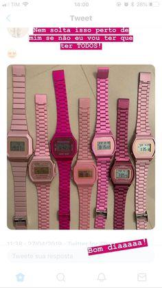 Casio Gold, Stylish Watches, Pink Love, Wristwatches, Casio Watch, Vintage Watches, Axe, Fashion Watches, Barbie
