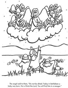 jesus is born bible coloring page