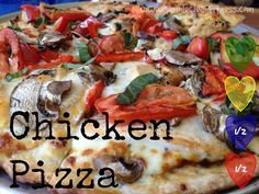 Chicken Pizza - 21 Day Fix Recipes - Clean Eating Recipes Healthy Recipes - Dinner - Lunch weight loss www.simplecleanfitness.com
