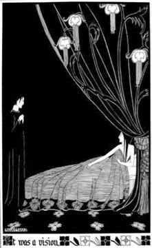 'It Was a Vision', Hannah Frank (1928) Pen and ink 40 cm x 26 cm. Prints available for sale.