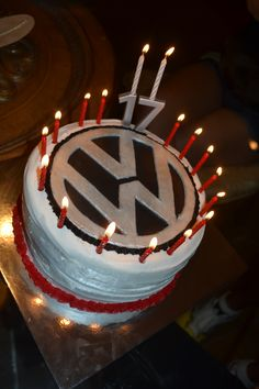 Proud of the VW logo cake for a bday cake! Happy Birthday, 17th Birthday, Birthday Parties, Birthday Cake, Vw Logo, Cake Logo, Chocolate Covered Strawberries, Cute Cakes, Let Them Eat Cake