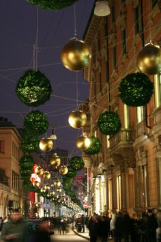 Christmas in Milan, Italy @Carly Dub this reminds me of the Doctor Who Christmas episode with the scary Robot Santas'.