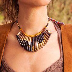 ZezeCraft&Design Ethnic Collection Necklace 02 (ZCDECN02) #recycle #necklace…