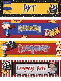 Hollywood Themed Kit~Classroom Ideas~Printables