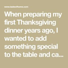 When preparing my first Thanksgiving dinner years ago, I wanted to add something special to the table and came up with this recipe. It's been a part of our traditional dinner ever since. First Thanksgiving, Thanksgiving Recipes, Fall Recipes, Holiday Recipes, Golden Delicious Apple, Delicious Food, Westerville Ohio, Fried Apples, Best Casseroles