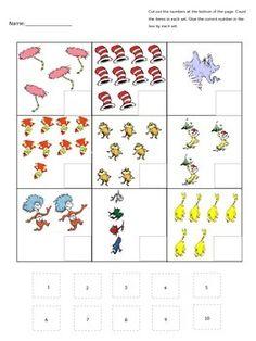Dr. Seuss Theme: FREE Preschool Printables - Cute Fish Number ...