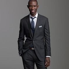 My next suit: J.Crew Aldridge, two-button with center vent in heather charcoal Italian wool. Oh, and with a vest. ;) $725 #suit