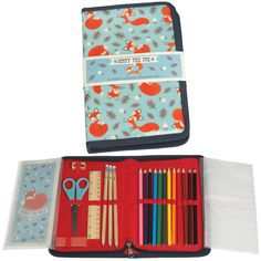 Rusty The Fox Drawing Set | dotcomgiftshop