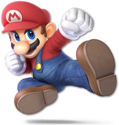 Mario as he appears in Super Smash Bros. Super Mario Rpg, Super Mario World, Mario Bros., Mario Party, Mario And Luigi, Mario Smash, Super Smash Bros Characters, Nintendo Characters, Diddy Kong