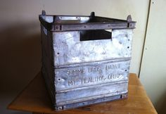 Items similar to Antique Metal Milk Crate Summe Bros Dairy of Mt Healthy Ohio on Etsy Metal Milk Crates, Flea Market Style, Antique Metal, Cincinnati, Dairy, Old Things, Antiques, Healthy, Unique Jewelry