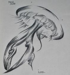 Denizanası   Kurşun kalem 2B,8B - Uçlu kalem 0,5mm 2B Sketches, Drawings, Google, Doodles, Drawing, Portrait, Sketch, Draw, Tekenen