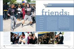 Del Campo High School yearbook pages 8-9