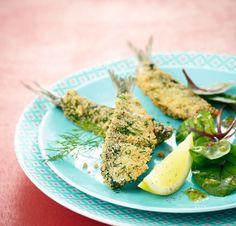 Sardines panées croustillantes