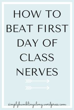 The first day of college classes are so scary and nerve-wrecking! Click here to read some tips on how to beat that anxiety and start your semester off right.