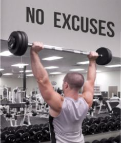 No Excuses - Gym Wall Decal - Motivational Wall - Inspirational Wall - Fitness Decal -Inspiring Wall Decor