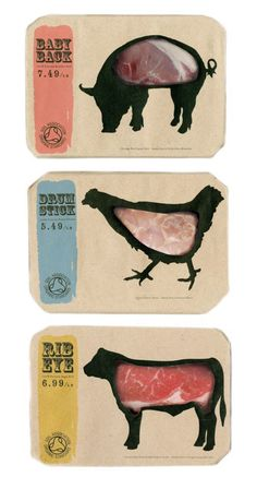 I love the way the designer has made the contents of the product (the meat) as a centre piece. It works really well.