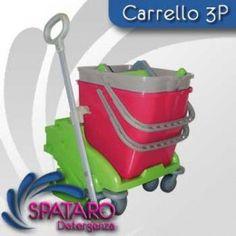 """1 Carrello 3P con maniglia """"Plus"""" laterale, da assemblare verde lt 50"""