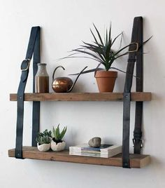 12 Fabulous Design Ideas Recycling Leather Belts for Home Decorating