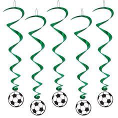 Spiralhänger Fußball, 5er Pack, 100cm lang
