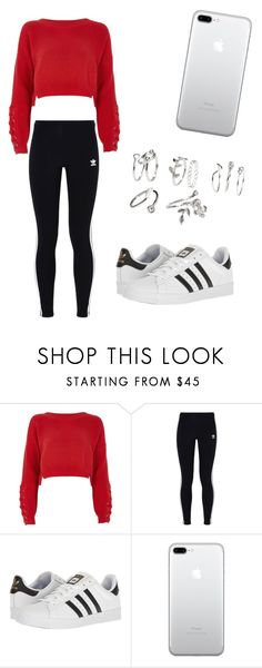 """""""No name#53"""" by kyley-mays on Polyvore featuring River Island, adidas Originals and adidas"""