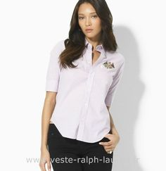 boutique Officielle Ralph Lauren chemises femmes cool girl purple Chemise  Ralph Lauren Soldes