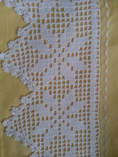 Crochet Boarders, Crochet Edging Patterns, Crochet Lace Edging, Doily Patterns, Filet Crochet, Easy Crochet, Crochet Baby, Crochet Books, Filets