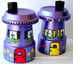 Flower Pot Fairy Houses