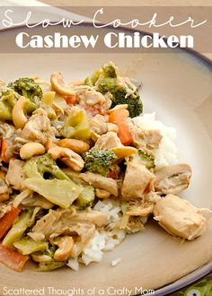 Great recipe for the slow cooker:  Cashew Chicken  #healthy #tasty #food #recipes