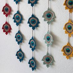 Crochet PATTERN Garland or Applique: Peacock by TheCurioCraftsRoom
