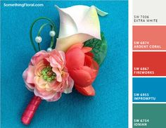 Bridal Bouquet, Wedding Flowers, Boutonniere, Corsage by SomethingFloral