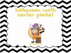 Halloween Math Common Core Center Packet-$