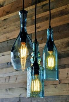 Hanging bottle lights