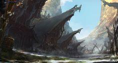 Image result for viking village concept art