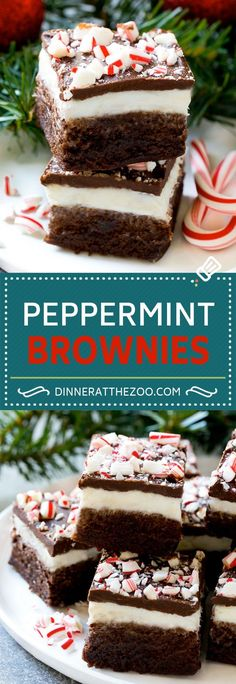 Peppermint Brownies Recipe | Holiday Brownies | Candy Cane Brownies | Mint Brownies