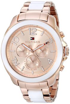 Tommy Hilfiger Women's 1781393 Rose Gold-Tone Watch *** Read more at the image link.
