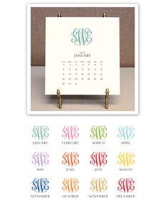 Desktop calendar- cute gift idea!
