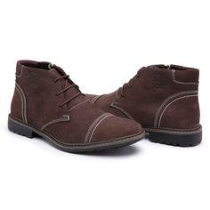 21eae1f6cfe Bota Coturno Masculino Top Franca Shoes C  Ziper Cafe