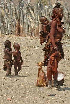 himba tribe. northern namibia.