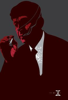 "My limited edition print ""Smoking Man"" for official X Files art show. A collaboration of Poster Posse, Iam8bit and Fox"