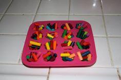 fun idea to recycle broken crayons