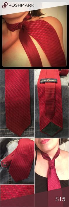 """💋HP💋 TOMMY HILFIGER 💋 100% Silk Tie Oxblood Red 💋 HOST PICK Men's Style Party 1-6-17 💋                                                                              100% Silk made in the USA neck tie by Tommy Hilfiger. I call it an Oxblood red - difficult hue to capture in the photos. Excellent condition - no flaws to note. Beautiful neck tie for VALENTINE'S DAY❣ ❤️❤️❤️ I have several other neck ties available in my """"Men's"""" section 💋💋💋 Tommy Hilfiger Accessories Ties"""