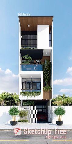 39 Pretty Small Exterior House Design Architecture Ideas – My World Bungalow House Design, House Front Design, Design Exterior, Facade Design, Exterior Signage, Exterior Lighting, Villa Design, Minimalist House Design, Modern House Design