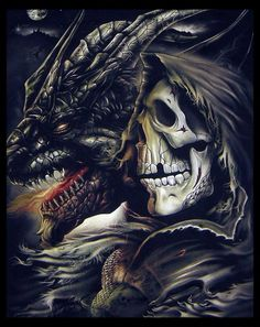 SilentSyrus picture gallery death skull art