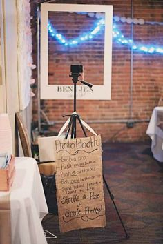 A real photo booth might be expensive. This way you have the pictures and can mail them with the thank you's!