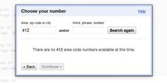 No More 412 Numbers on Google Voice in Boring Pittsburgh