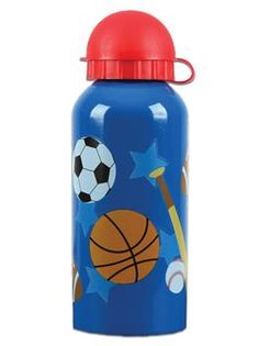 Your little one can stay hydrated in style with the fashionable Sports Stainless Steel Water Bottle from Stephen Joseph. This study container comes with a leak-proof cap to keep all of the lovely water from spilling everywhere. Stainless Steel Drink Bottles, Sports Drink, Baby Bottles, Water Bottles, Kids Sports, Drinks, Bottle Bottle, Bottle Caps, Lunch Boxes