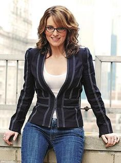 Tina Fey -- hair color and frames?