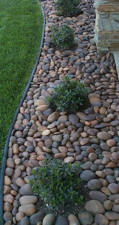 Wonderful Small Backyard Landscaping Ideas Front Yard Landscaping Ideas - Discover these Perry Home Decor pictures of front lawn landscape design designs as well as get ideas for your own yard. Small Backyard Landscaping, Landscaping With Rocks, Landscaping Tips, Inexpensive Landscaping, Landscaping Software, Backyard Patio, Luxury Landscaping, River Rock Landscaping, Landscaping Around House