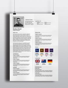 The Resume by Graphicalark on @creativemarket