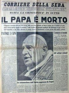 Corriere della sera, 4 giugno 1963, morte Giovanni XXIII